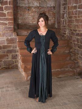 Mittelalterkleid schwarz-grau XL