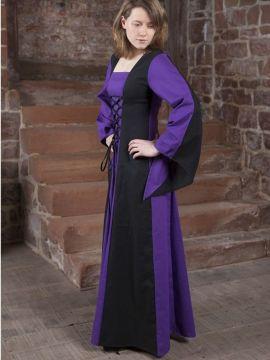 Mittelalterkleid Sonja schwarz-lila 48