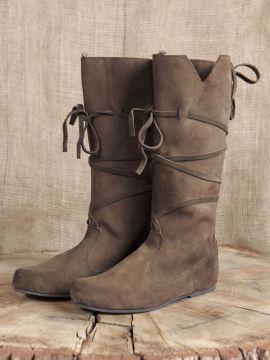 Hohe Stiefel aus Wildleder braun 43