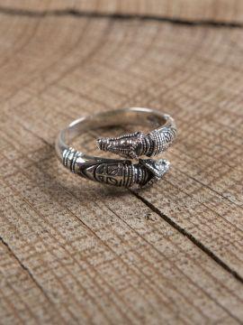 Drachenkopfring 925er Silber klein