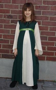 """Kinderkleid/Jugendkleid """"Piccola"""" grün/natur"""