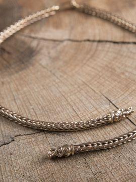 Handgeflochtene Wikingerkette 65 cm ohne Kettenhaken
