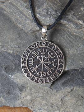 Silberanhänger Wikinger-Kompass