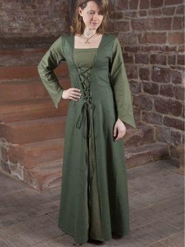 Mittelalterkleid Larea in grün 44
