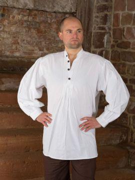 Biesenhemd mit Holzknöpfen weiß XL