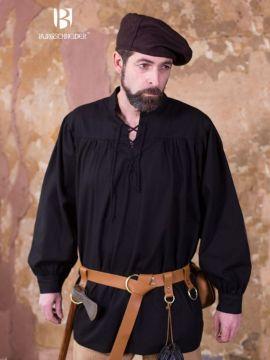Schnürhemd Störtebecker, schwarz XXXL