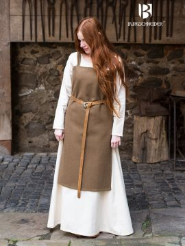Wikingerkleid Jodis - Wolle, herbstgrün L