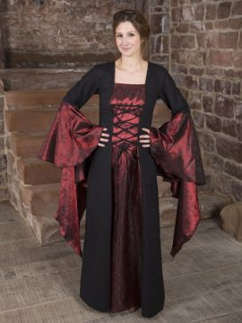 Mittelalterkleid Marlein schwarz-rot 48