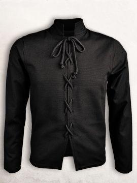 Schlichtes Wams aus Baumwolle schwarz XXL