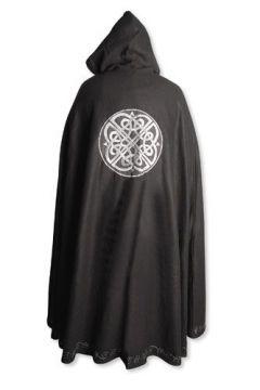 Wollumhang mit keltischem Knoten schwarz