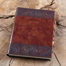 """Schreibbuch """"Scudi"""" im Ledereinband Klein 12x17 cm"""