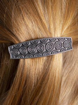 Haarspange mit Spiralmuster