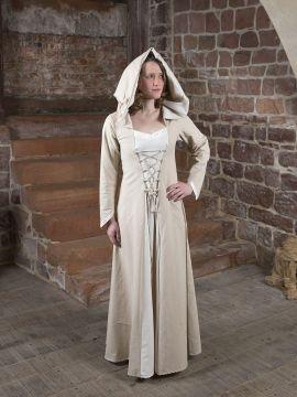Mittelalterkleid Floriel creme-weiß 54