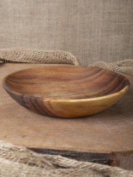 Suppenteller aus Akazienholz