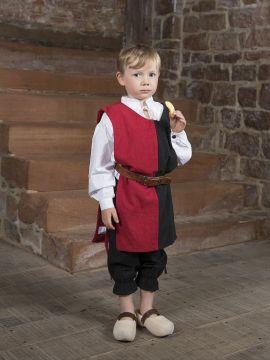 Waffenrock für Kinder 128 | natur/rot