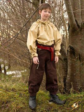Baumwollhose für Kinder braun 8 - 10 Jahre