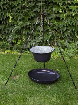 Feuerstelle - Feuerschale mit Dreibein und Topf 10 Liter