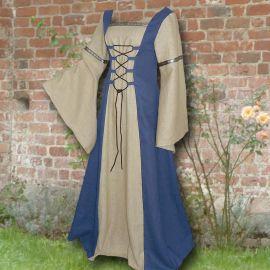 Kleid Elisabeth hellblau-sand 50-54