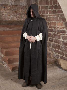 Umhang aus Baumwolle in schwarz Länge ab Schulter 140 cm