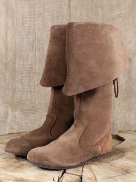 Stiefel mit Stulpe aus Wildleder 43 | schwarz