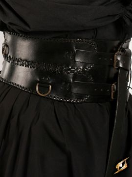 Breiter Ledergürtel schwarz M