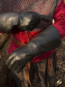 Falknerhandschuhe schwarz L