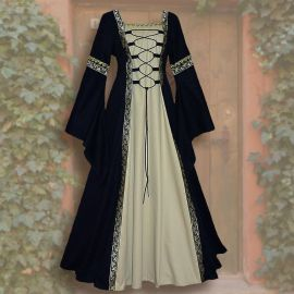 Kleid Iris schwarz-sand 44 - 48