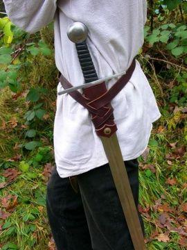 Wikingerzeitliches Schwertgehänge schwarz