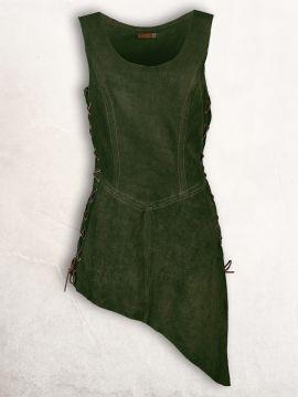 Waffenrock aus Wildleder grün S