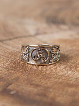 Ring mit Triskele groß | Bronze