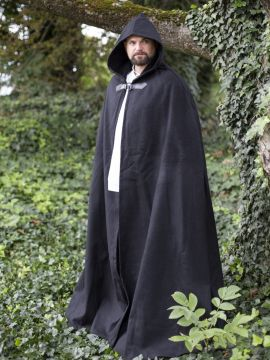 Wollumhang mit Drachenspange schwarz 161 cm