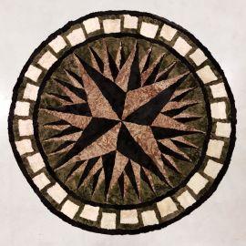 Lammfelldecke rund rund, Durchmesser ca. 150 cm