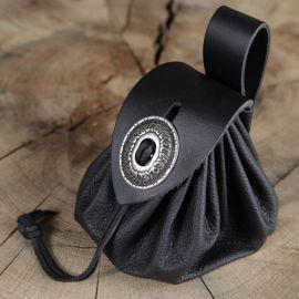 Geldkatze - Beuteltasche schwarz hellbraun