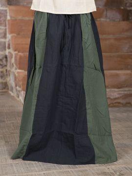 Rock für Mittelalter schwarz-grün L/XL