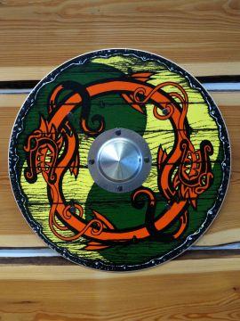 Wikinger Rundschild für Kinder gelb-grün