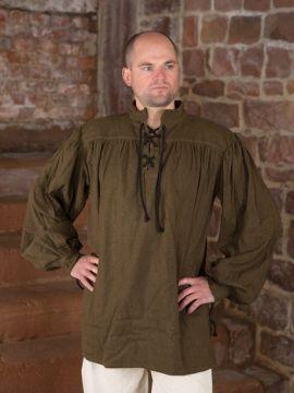 einfaches Gewandungshemd braun XL