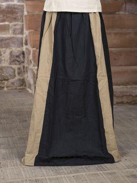Rock für Mittelalter schwarz-hellbraun L/XL