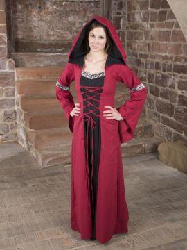 Mittelalterkleid Helena schwarz-rot 36