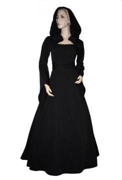 Mittelalterkleid Julia in schwarz 42