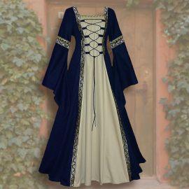 Kleid Iris blau-sand 36 - 42