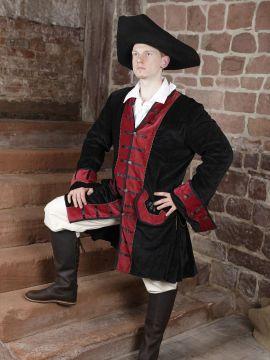 Gehrock mit Hut, Hose und Rüschenhemd ohne Stiefel