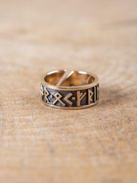 Runenring aus Bronze groß