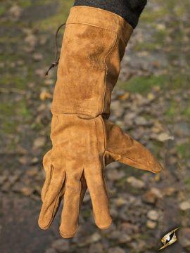 Wildlederhandschuhe braun L