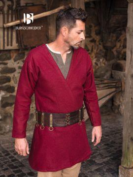 Klappenrock Loki aus Wolle rot L