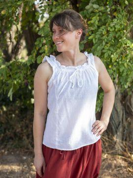 ärmellose Sommerbluse weiß XL