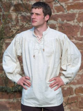 Mittelalterhemd L | weiß