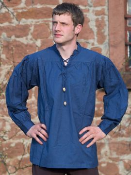 Mittelalterhemd blau S