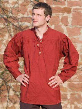 Mittelalterhemd rot L