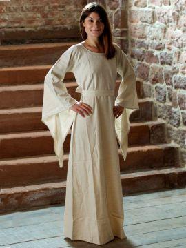Mittelalterliches Kleid aus Leinen natur