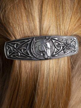 Haarspange mit Keltenpferd